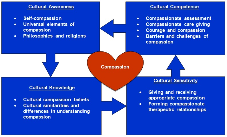 What is culturally competent compassion diagram